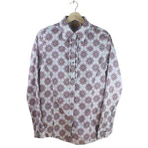 Wrangler Pearl Snap Button Ruffled Blouse